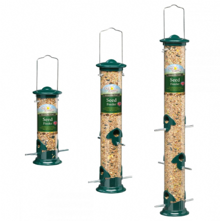 Harrisons Green Die-Cast Seed Feeder